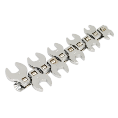 "Crows Foot Spanner Set 10pc Open End 3/8""Sq Drive Metric"