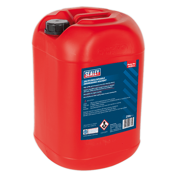 Sealey AK25 - Degreasing Solvent Emulsifiable 1 x 25ltr