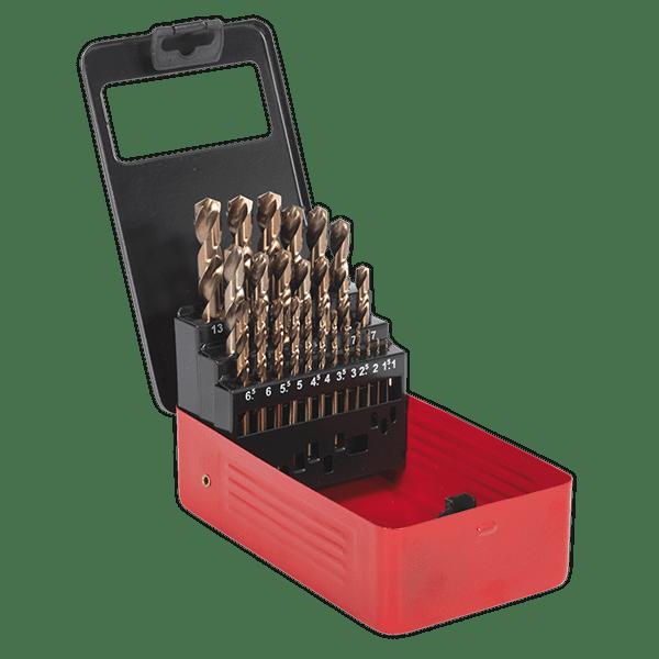 Cobalt Drill Bit Set >> Sealey Ak4702 Cobalt Drill Bit Set 25pc Metric Uktools Com