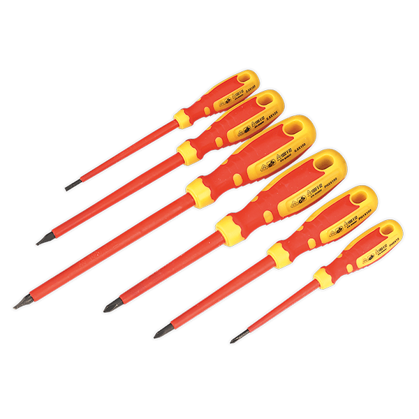 Sealey AK6122 - Screwdriver Set 6pc VDE/TUV/GS Approved