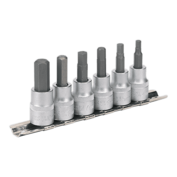 "AK656 Hex Key Socket Set 6pc 3/8""Sq Drive Metric"