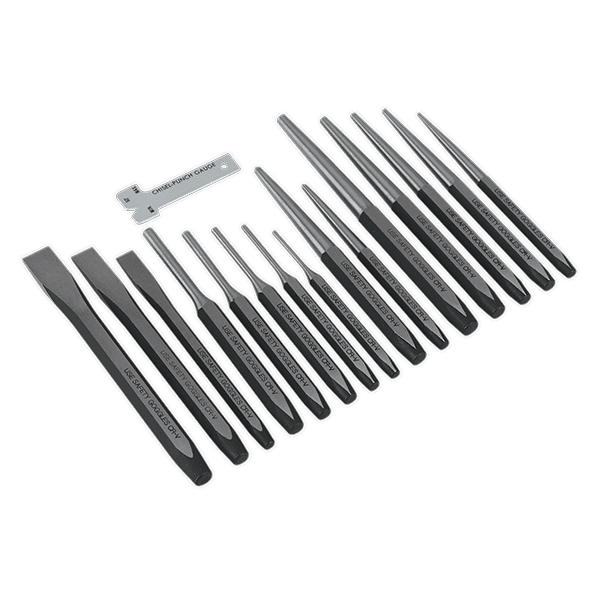 Sealey AK9216 - Punch & Chisel Set 16pc