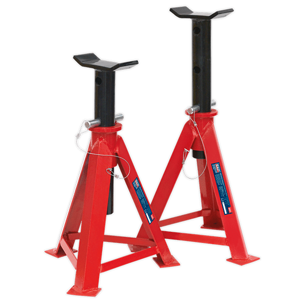 Sealey AS7500 - Axle Stands 7.5tonne Capacity per Stand 15tonne per Pair Medium Height