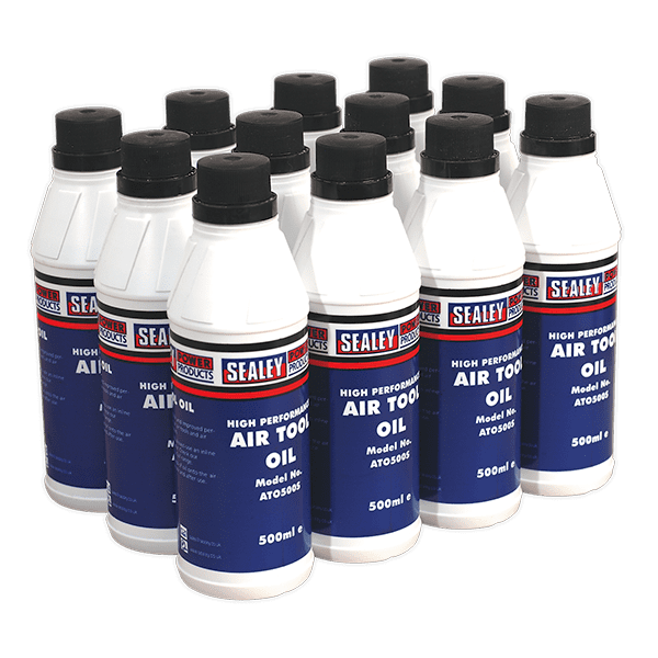 Sealey ATO/500 - Air Tool Oil 500ml Pack of 12
