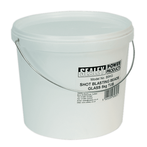 Sealey B5KG - Shot Blasting Beads Glass 5kg Tub