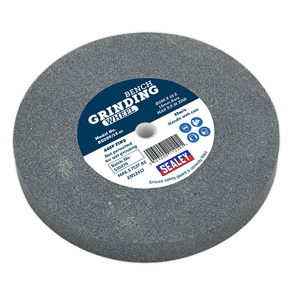 Sealey BG200/15 - Grinding Stone O200 x 25mm 16mm Bore A60P Fine