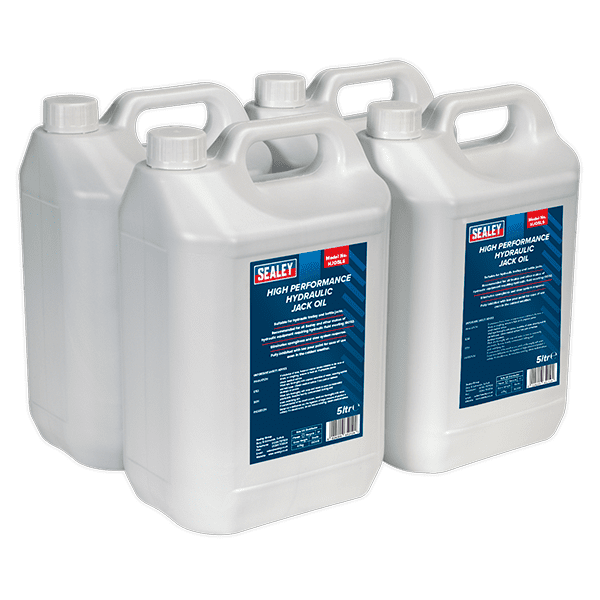 Sealey HJO/5L - Hydraulic Jack Oil 5ltr Pack of 4