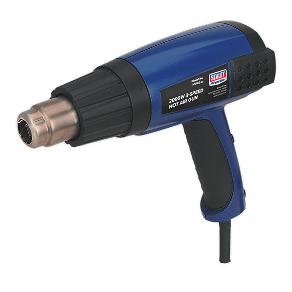 Sealey HS102 - Hot Air Gun 2000W 3-Speed 50-600°C Variable Heat