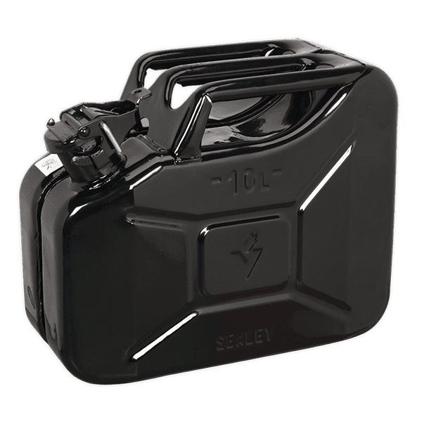 Sealey JC10B - Jerry Can 10ltr - Black