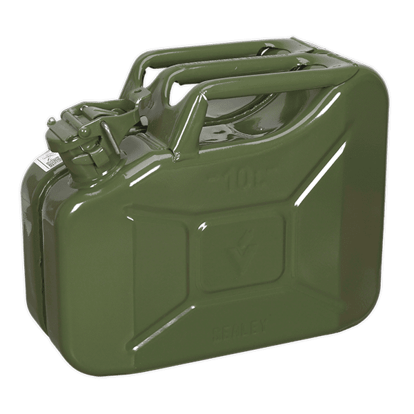 Sealey JC10G - Jerry Can 10ltr - Green