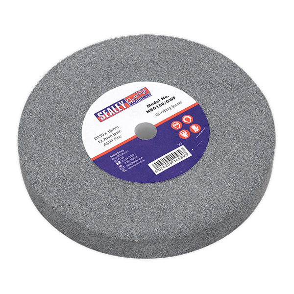 Sealey NBG150/GWF - Grinding Stone O150 x 16mm 12.7mm Bore A60P Fine