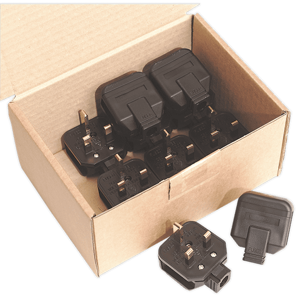 Sealey PL/13/3 - Rubber Plug 13Amp Extra Heavy-Duty Pack of 10