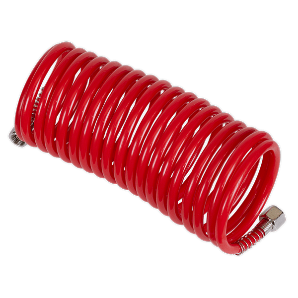 Coiled Air Hose 5mtr Dia 5mm with 1/4''BSP Unions