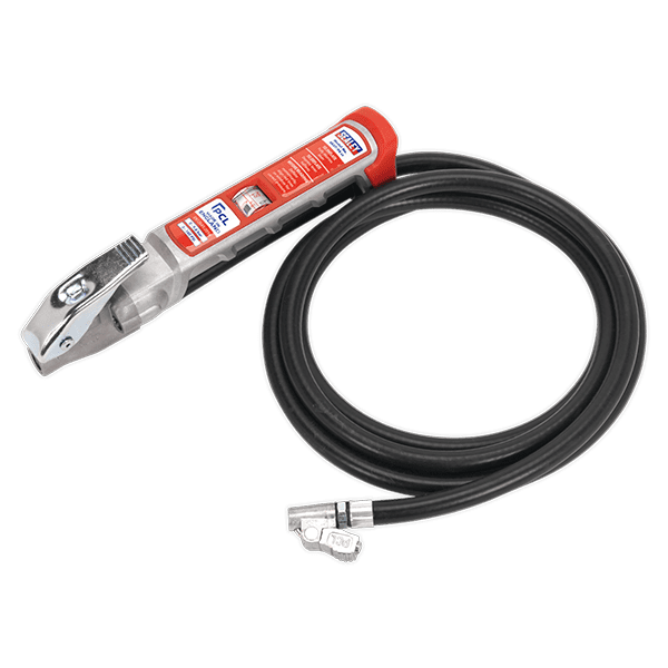 Sealey SA37/94 - Professional Tyre Inflator with 2.75mtr Hose & Clip-On Connector