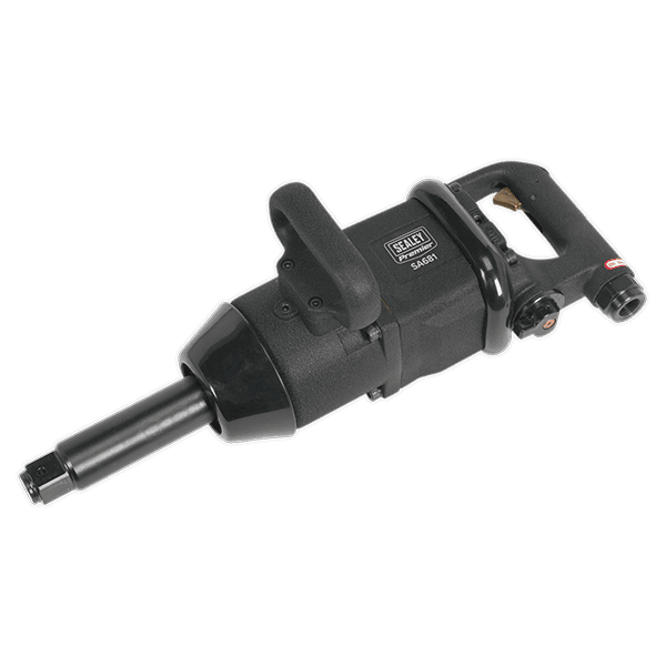 "Sealey SA681 - Air Impact Wrench 1""Sq Drive Pin Clutch Straight/Long Anvil Super-Duty 1800lb.ft"