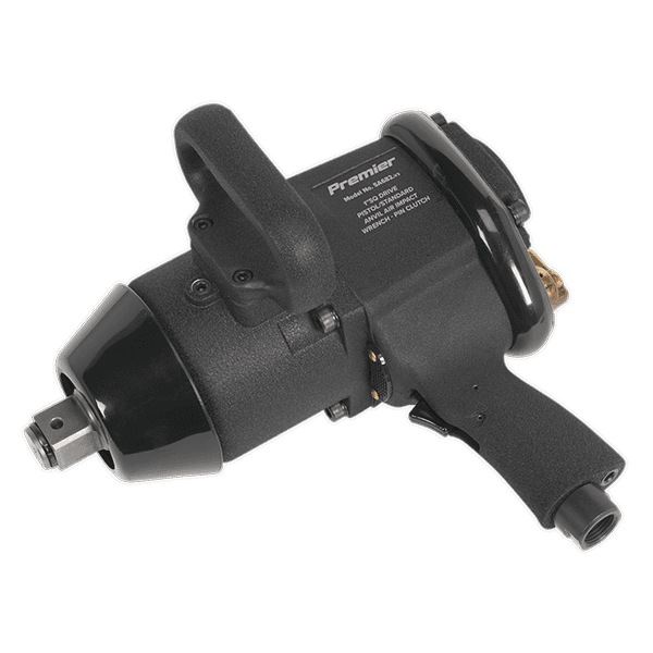 "Sealey SA682 - Air Impact Wrench 1""Sq Drive Pin Clutch Pistol/Standard Anvil Super-Duty 1800lb.f"