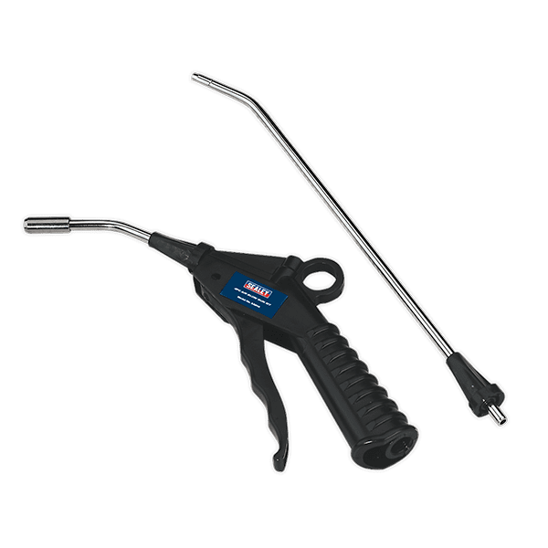 Sealey SA914 - Air Blow Gun with Safety Nozzle & 2 Extensions