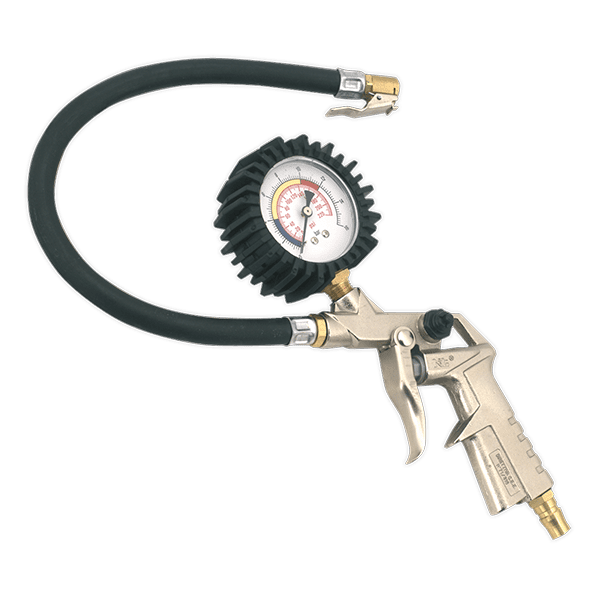 Sealey SA924 - Tyre Inflator with Clip-On Connector
