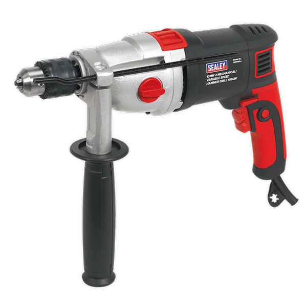 Sealey SD1000 - Hammer Drill 13mm 2 Mechanical/Variable Speed 1050W/230V