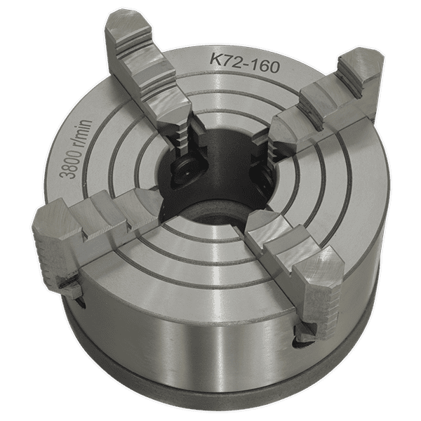Sealey SM27FJC - 4 Jaw Independent Chuck with Back Plate
