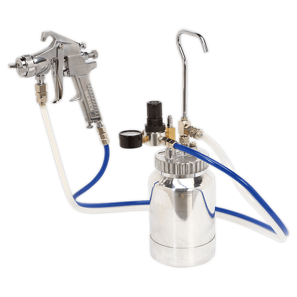 Sealey SSG1P - Pressure Pot System with Spray Gun & Hoses 1.8mm Set-Up