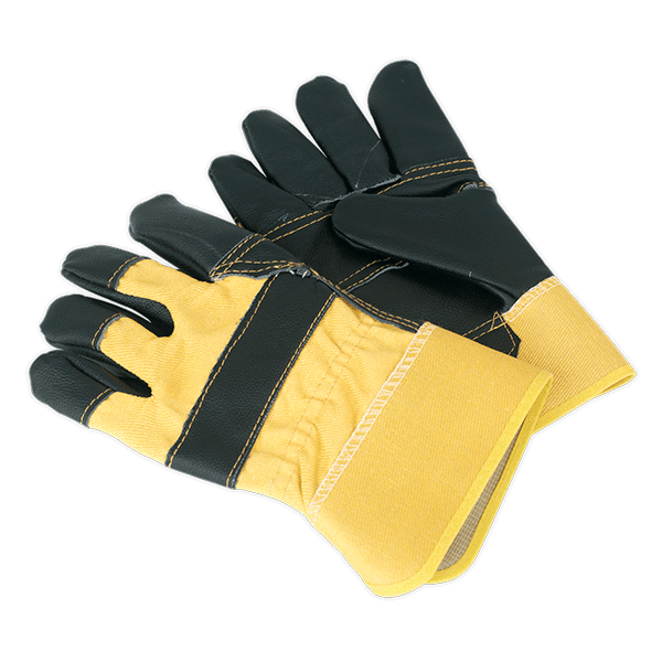 Sealey SSP13 - Riggers Gloves Hide Palm Pair