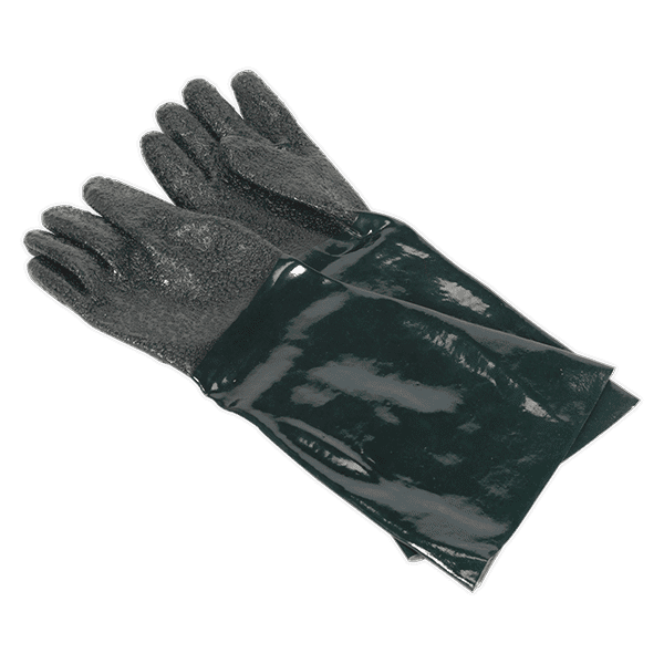 Sealey SSP41 - Shot Blasting Gauntlets 585mm Cuffed Pair