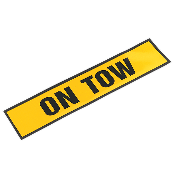 "Sealey TB01T - Magnetic Sign ""ON TOW"""