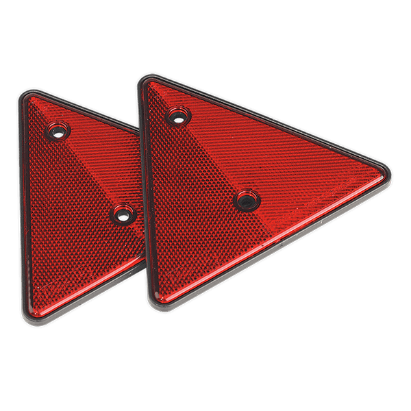 Sealey TB17 - Rear Reflective Red Triangle Pack of 2