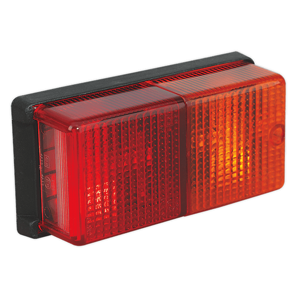 Sealey TB19 - Rear Rectangular Lamp Cluster 12V with Bulbs