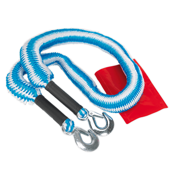 Sealey TH2502 - Tow Rope 2000kg Rolling Load Capacity