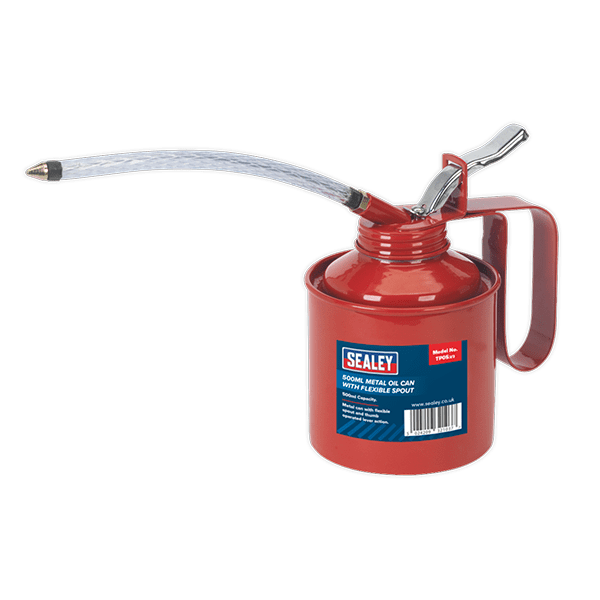 Sealey TP05 - Metal Oil Can Flexi Spout 500ml