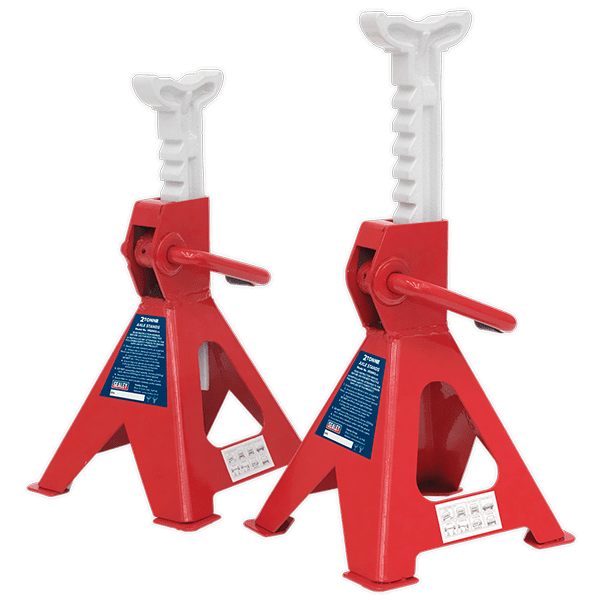 Sealey VS2002 - Axle Stands 2tonne Capacity per Stand 4tonne per Pair Ratchet Type