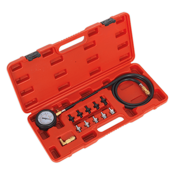 Sealey VSE203 - Oil Pressure Test Kit 12pc