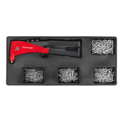 Sealey TBT15 - Tool Tray with Riveter & 400 Assorted Rivet Set