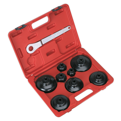 Sealey VS7005 Paper Cartridge Type Oil Filter Cap Wrench Set 9pc